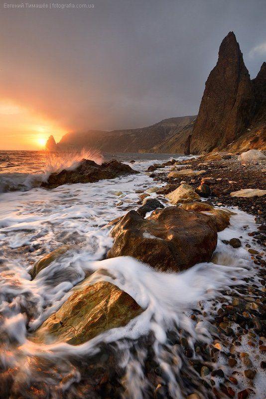 крым, пейзаж, черное море Вечер на Яшмовом пляжеphoto preview