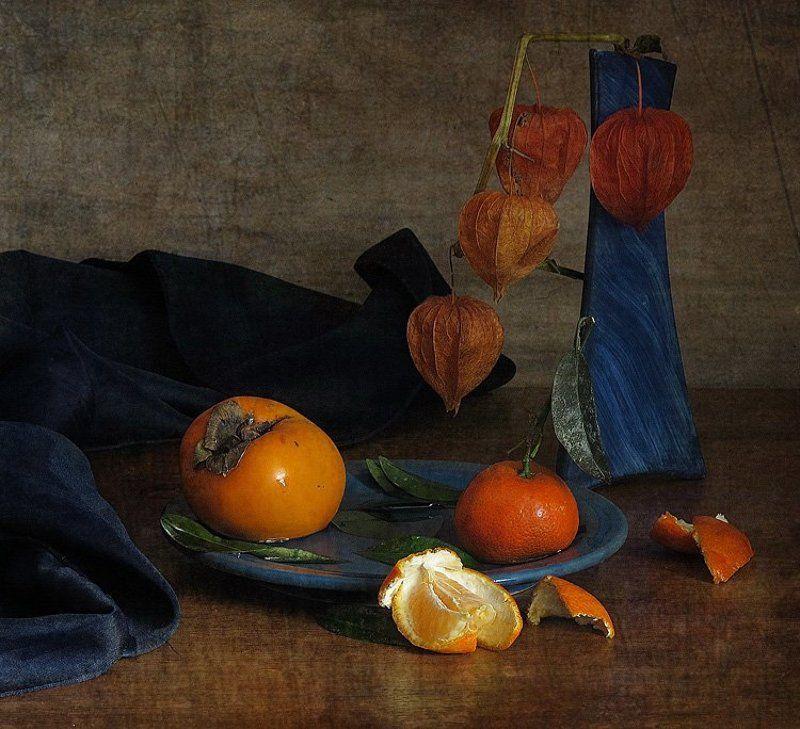 мандарин, натюрморт, осень, физалис, хурма Оранжевая осеньphoto preview