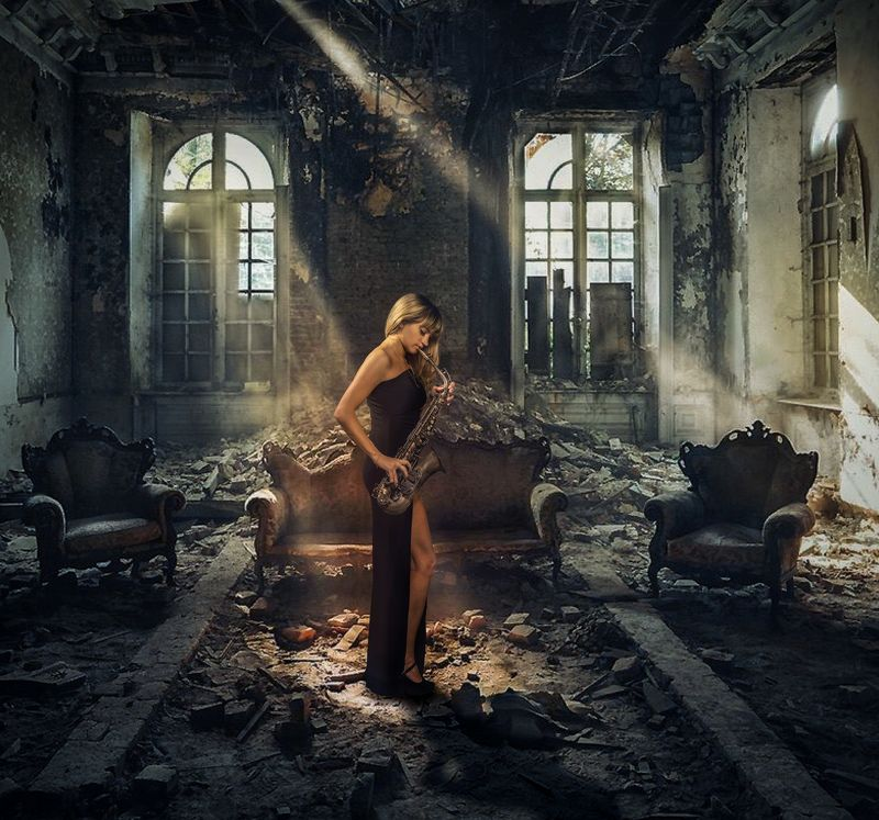 студийный портрет, красивая девушка, женский портрет, концептуальное, будуар Настяphoto preview