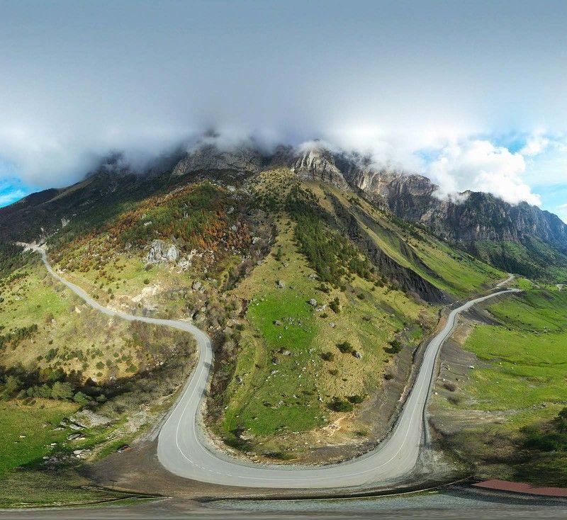 Ингушетия, Кавказ, Цей-Лоам, с высоты орлиного полёта Горная симметрия 2photo preview