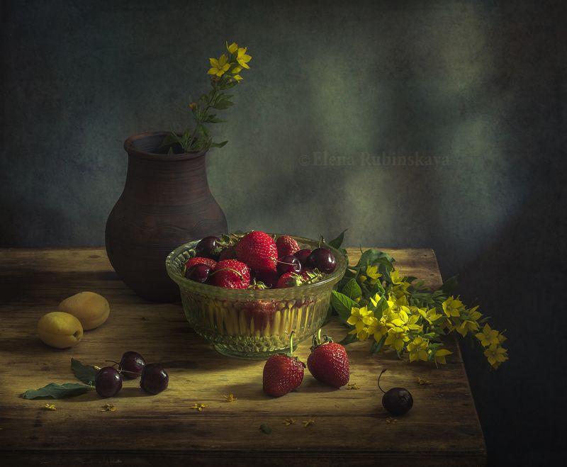 кострома, натюрморт, клубника, ягоды, черешня  фото превью