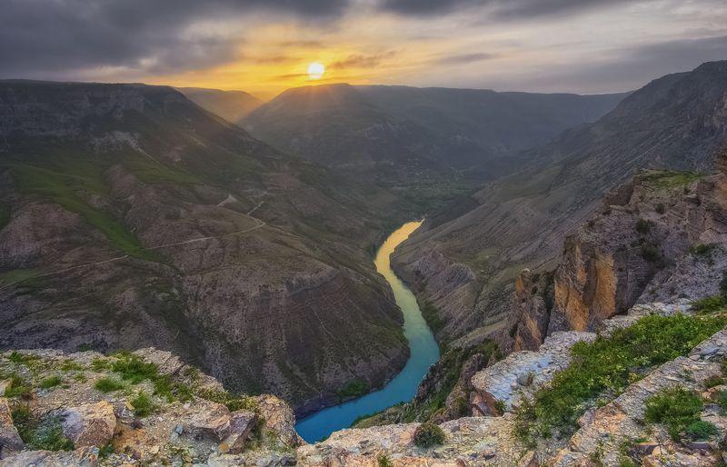 дагестан. Сулакский каньон. Закат.photo preview