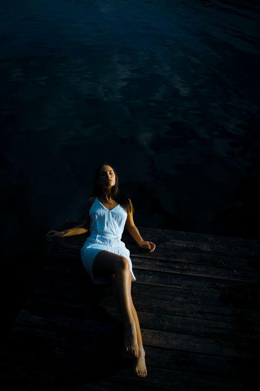 portrait, girl, lake, model, lithuanian Gabrielė.photo preview