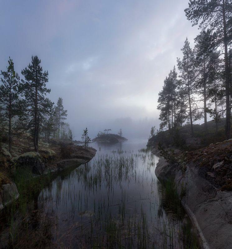 ладога, белые ночи, шхеры, рассвет ,карелия, ладожское озеро Белая ночь на Ладогеphoto preview