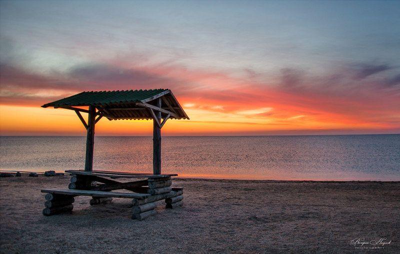 лето, утро, рассвет, утренняя зоря, предрассветный час, небо, облака Утро морскоеphoto preview