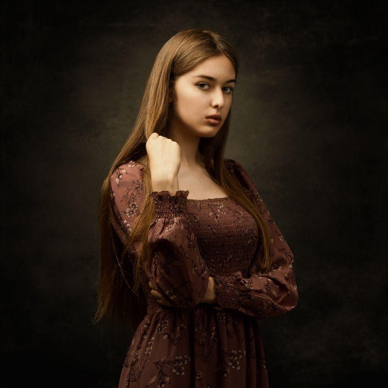 студийный портрет, красивая девушка, женский портрет Амираphoto preview
