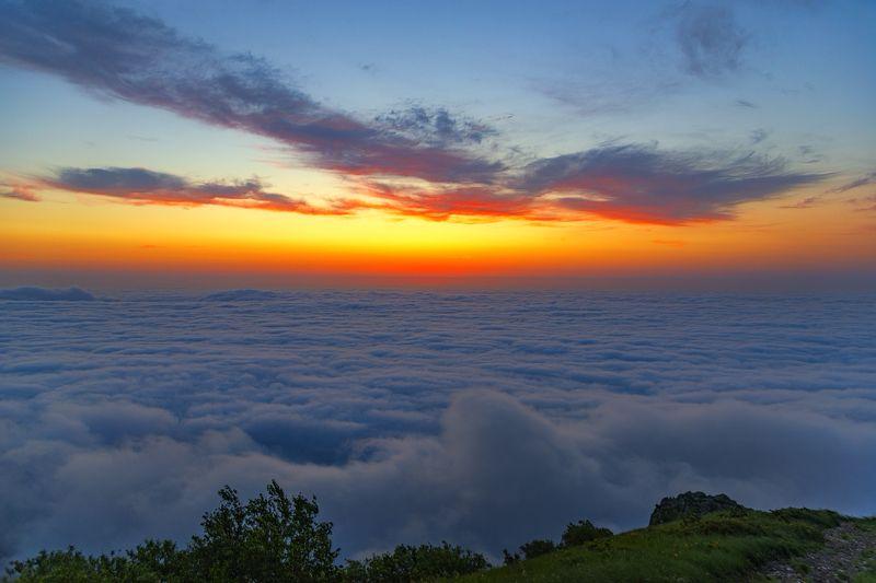 рассвет,облака,бештау,природа,пейзаж Далеко, там где неба кончается край...photo preview