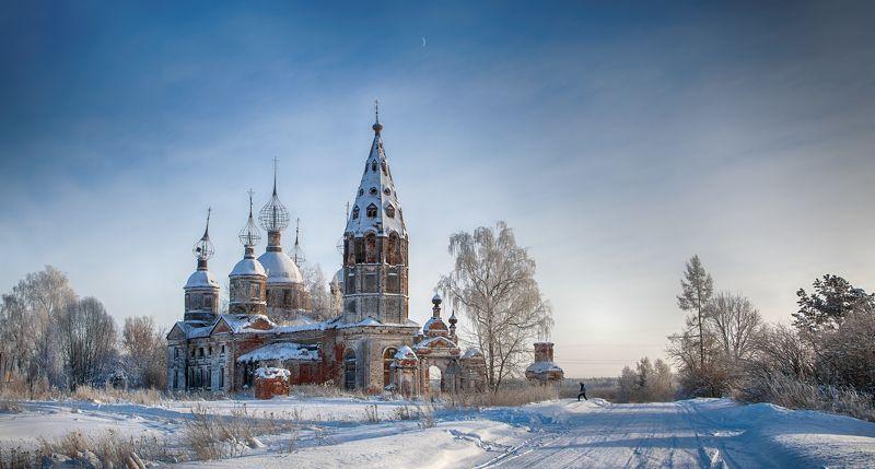 зима, снег , храм, деревня Воспоминания о зимнем Острове ...photo preview
