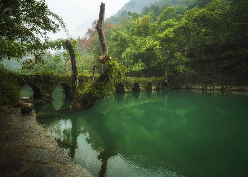мост, xiaoqikong, 小七孔,贵州 Старый мостphoto preview