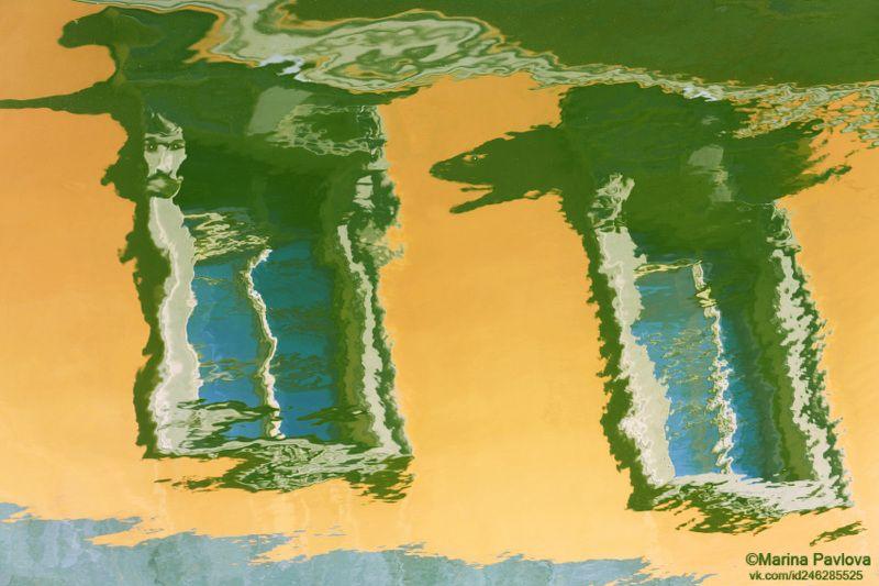 петербургские акварели, отражения на воде, акваабстракция, акваграфика, абстракция, парейдолия, мистический петербург, nikon \