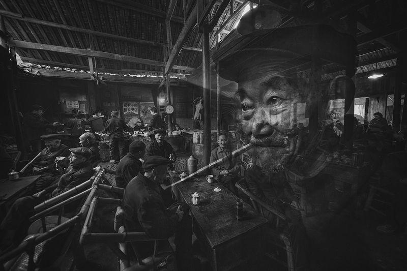 the old teahouse in pengzhen town, chengdu Old Teahousephoto preview