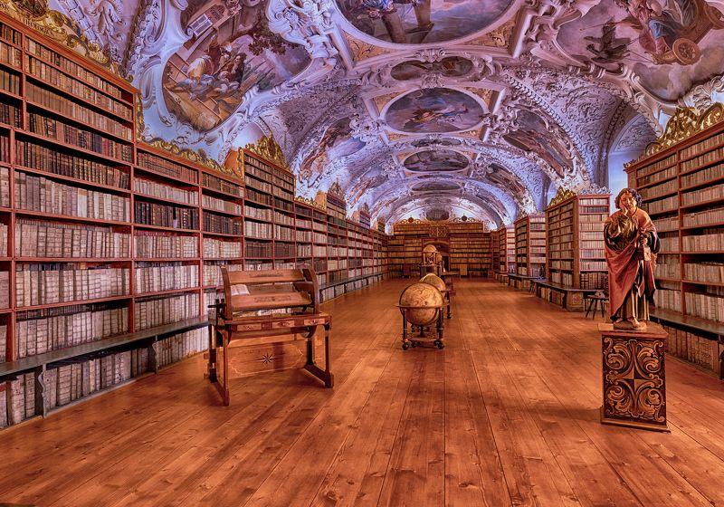 архитектура, интерьер, библиотека ,национальная библиотека , прага Национальная библиотека в Прагеphoto preview