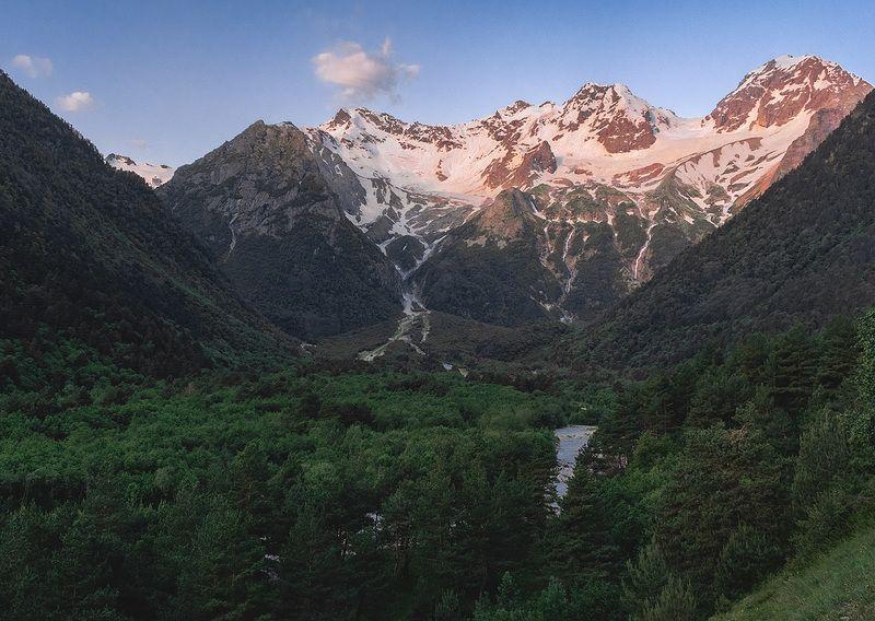 горы, осетия, водопады, дигория, природа, лето, кавказ, рассвет, ***photo preview