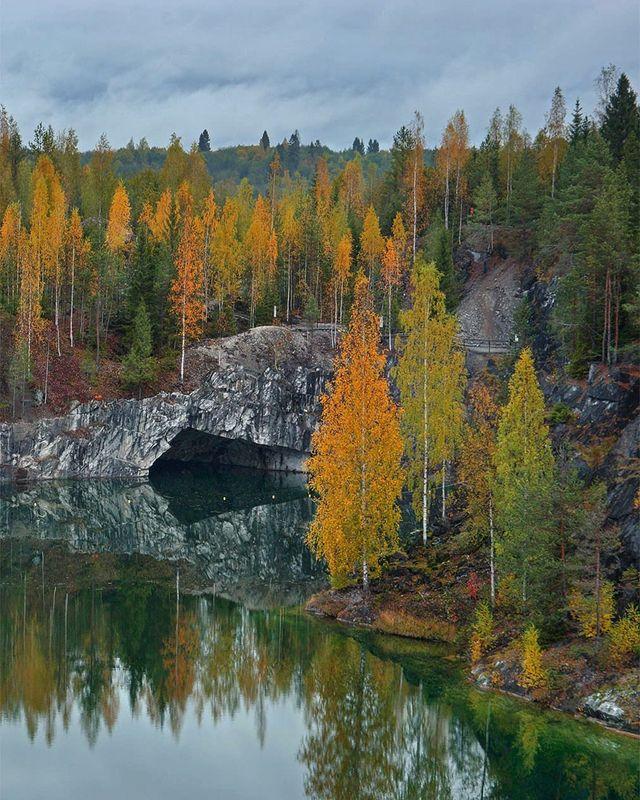 карелия, осень, рускеала Осенние краски Рускеалыphoto preview