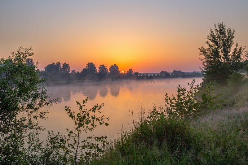 утро туман  клязьма состояние восход Утро жаркого дня. Клязьмаphoto preview