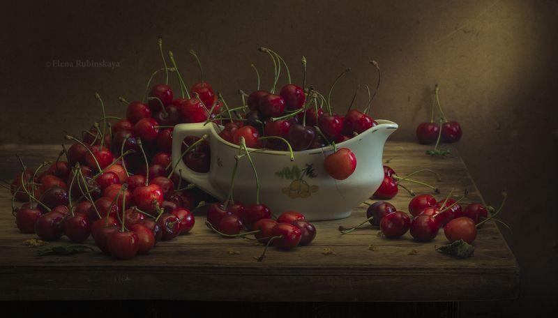 натюрморт, кострома, ягоды, вишня, черешня  фото превью