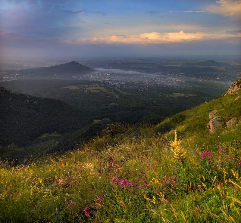 июль,утро,машук,бештау,кмв,пятигорск,природа, разнотравье,пейзаж Июльphoto preview