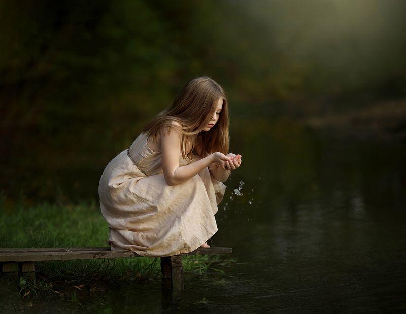 вода, девочка, капли ***photo preview