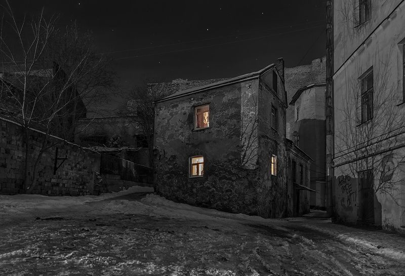 город,зима, ночь О доме, который  вас ждет…photo preview