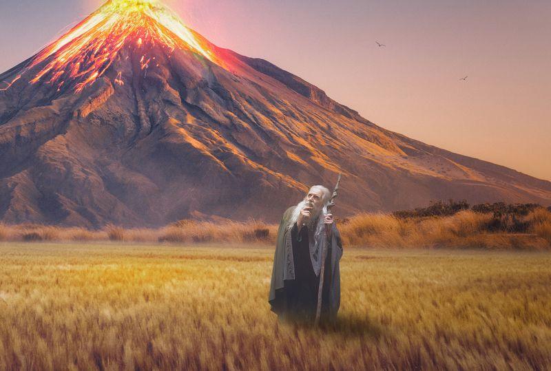 старик, вулкан, поле Гнев боговphoto preview