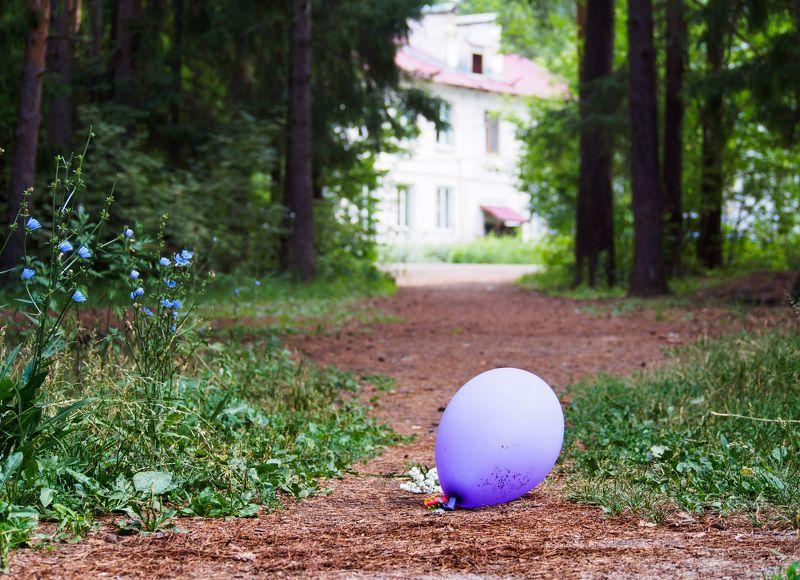 Девочка плачет: шарик улетел...photo preview