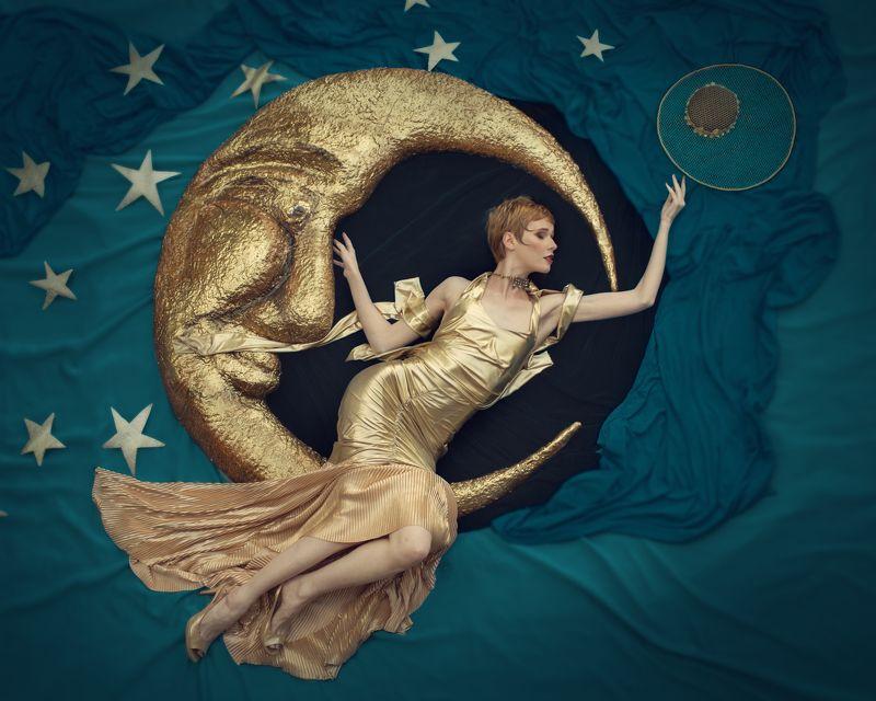 diva, дива, звезда,  луна, месяц, star,  moon, fairytale, ardeco, art deco, ар деко, золото,  gold, Divaphoto preview