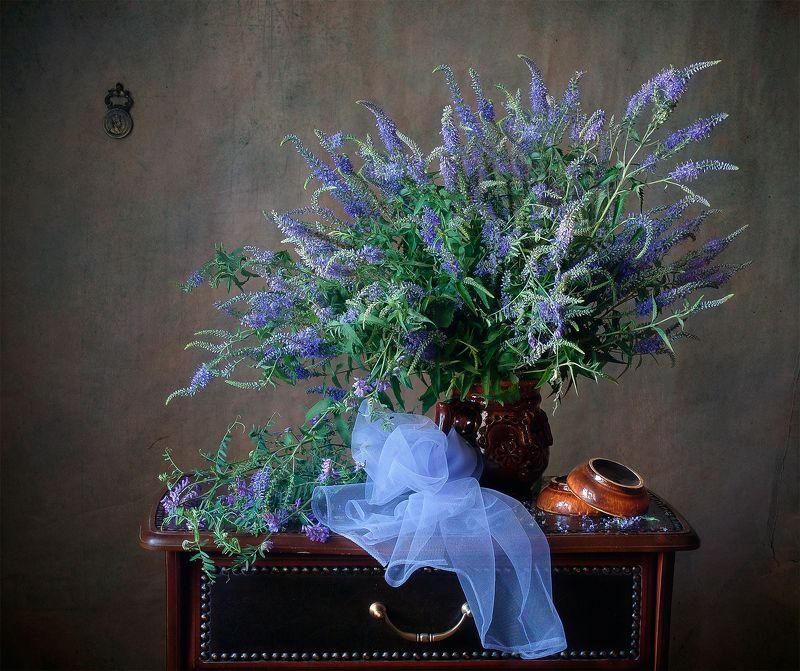 миламиронова, фотонатюрморт, лето, букет, цветы, вероника, луговые Вероника...photo preview