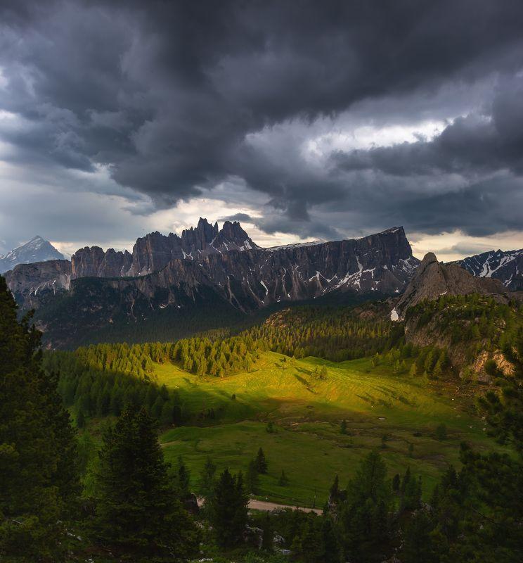 италия, доломиты, горы, облака, закат, природа, landscape, italy, dolomites Перед грозой.photo preview