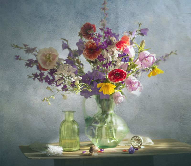 букет цветов, натюрморт, лето Летнийphoto preview