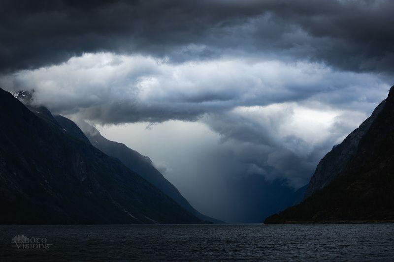 storm,clouds,lake,mountains,stormy,dark,norway, Ragnarok фото превью