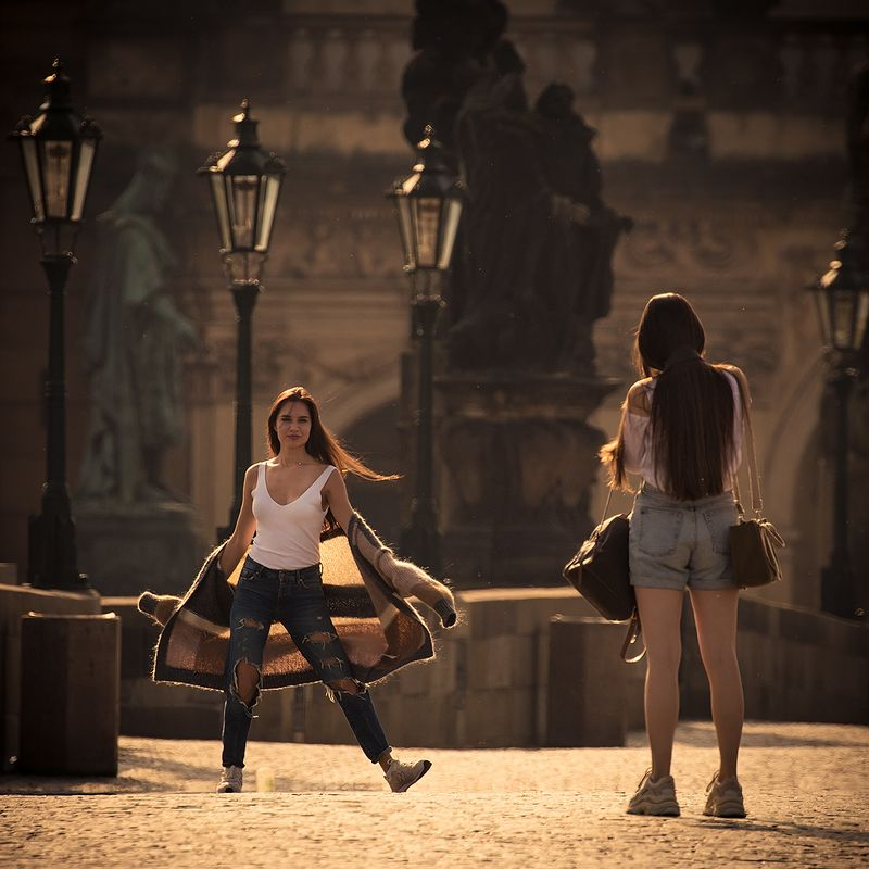 On the Prague bridgephoto preview
