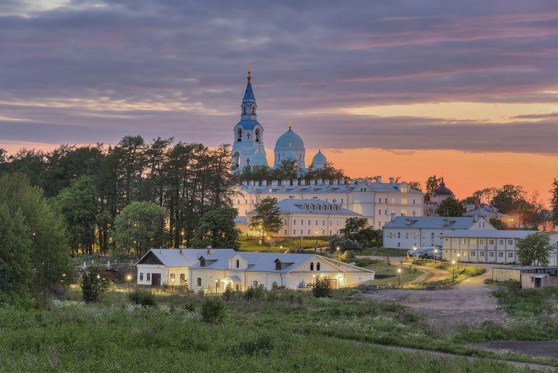 лето, ночь, монастырь, церковь photo preview