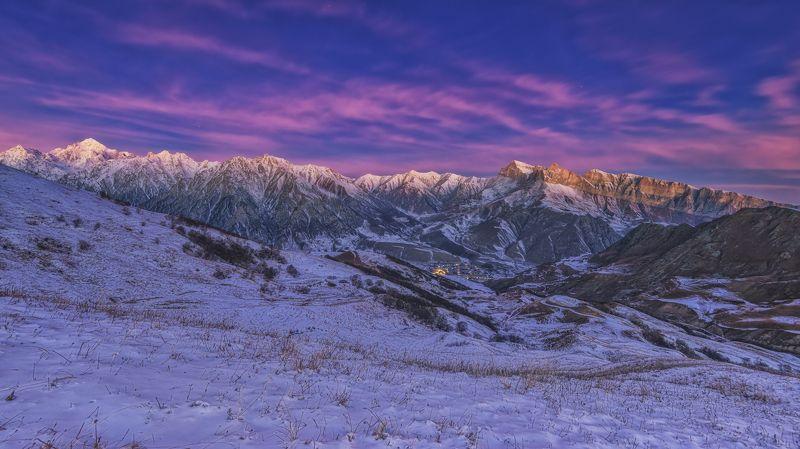 кбр. верхняя балкария. Утренний сон пос. Верхняя Балкария.photo preview