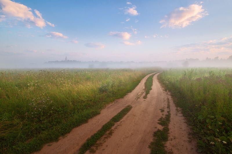 туман, храм, утро, лето Летняя пораphoto preview