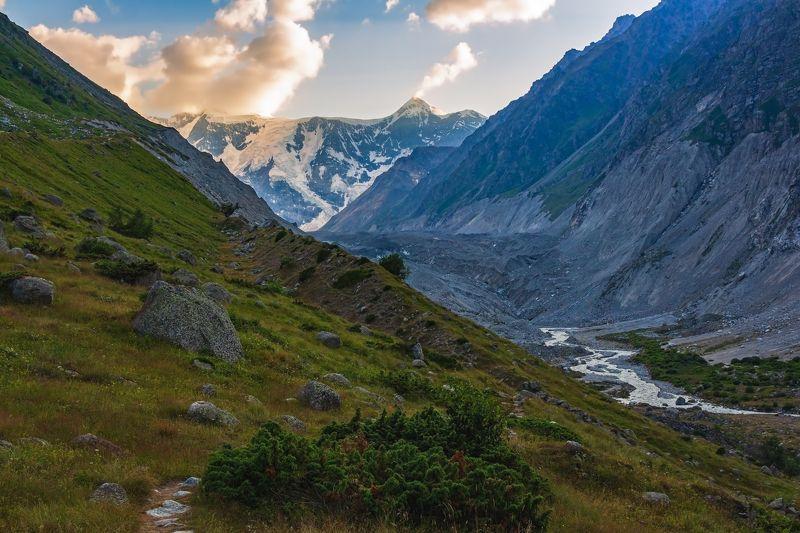 горы, альпинизм, кавказ, ледники садилось солнце на закате...photo preview