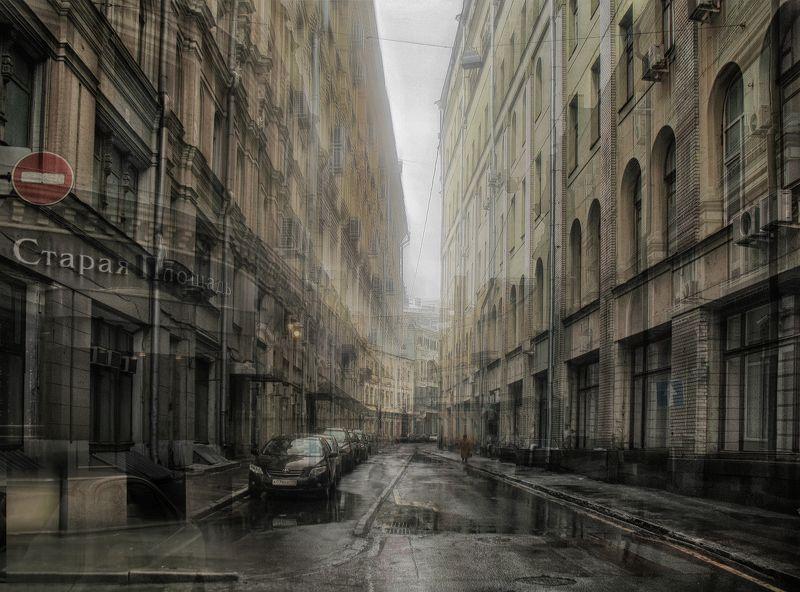 город, москва, осень, улочка, дом, прохожий Призрачный город...photo preview
