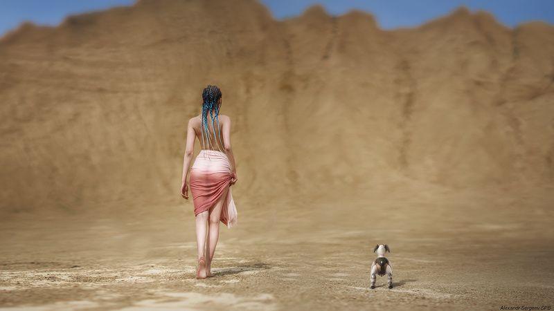 девушка, обнажение,арт,фото-арт,ню-арт,концептуальное Марсианские хроникиphoto preview