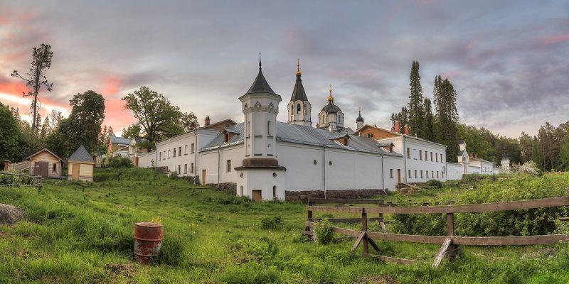 лето, вечер, озеро, архипелаг, монастырь, церковь photo preview
