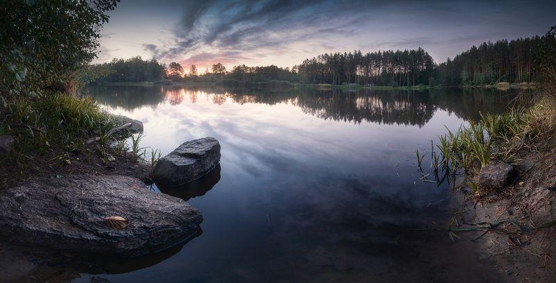 коростышев, первое озеро, украина, пейзаж, закат, вечер, тишина, гармония. безмолвие, уединение, осознанность, адвайта, \