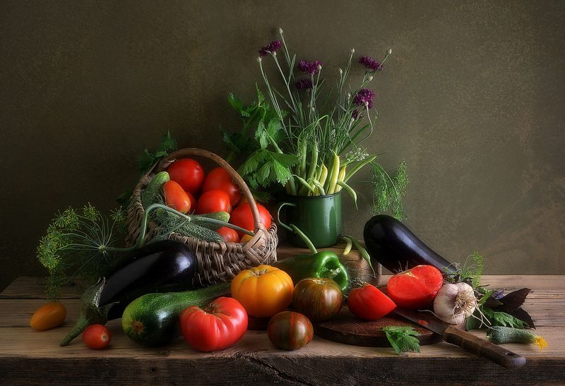 сергей алексеев, натюрморт Натюрморт с овощами. Всё своё.photo preview