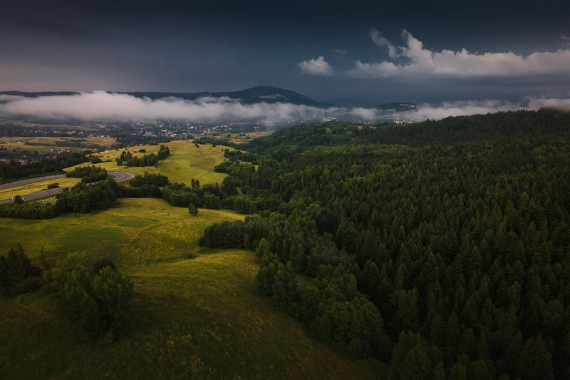 mountains, summer, poland, storm Stormy weatherphoto preview