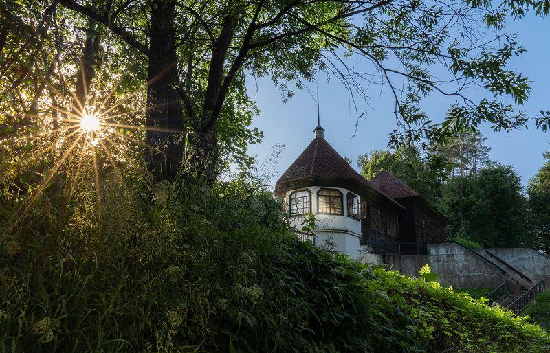 солнце, закат, лучи, лето, домик, пейзаж Летнее...photo preview