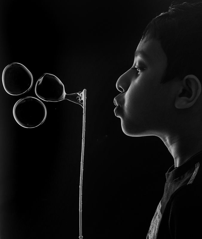 #childplay #bubbles#blackandwhitefinewrt Child\'s Playphoto preview