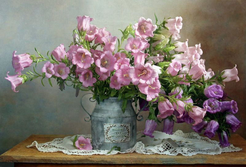 лето,  цветы, натюрморт, марина филатова, колокольчики Цветок души, как нежный цвет зариphoto preview