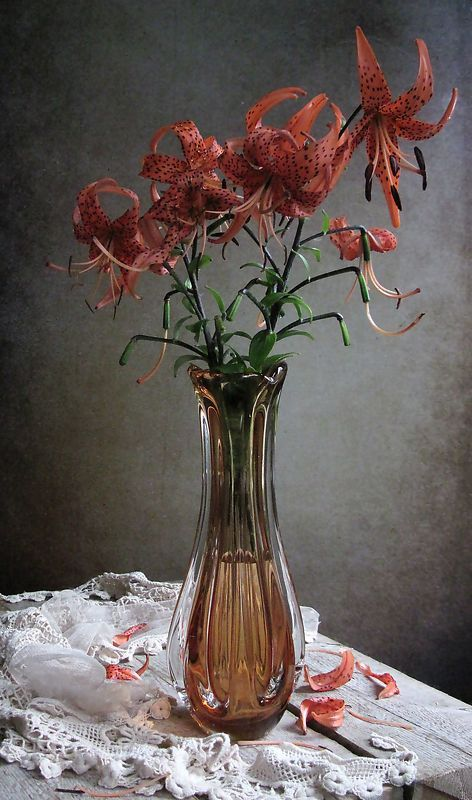 цветы, букет, лилии Веснушчатыйphoto preview