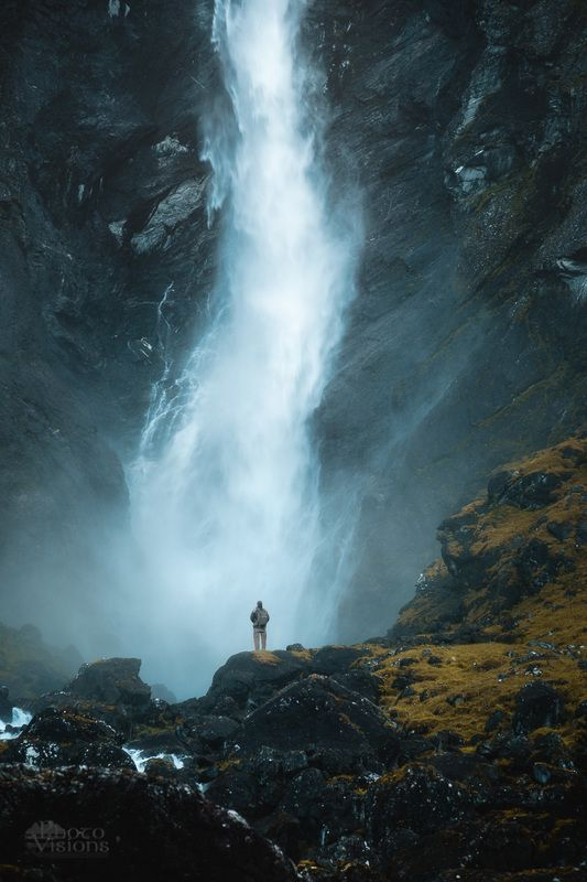 waterfall,nature,norway,biggest,mardalsfossen,mountains, Facing The Nature фото превью