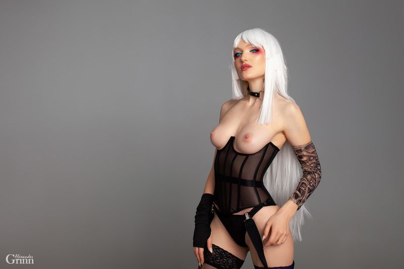 Cyber Witcher, alexandergrinn, cosplay, corset Cyber Witcherphoto preview