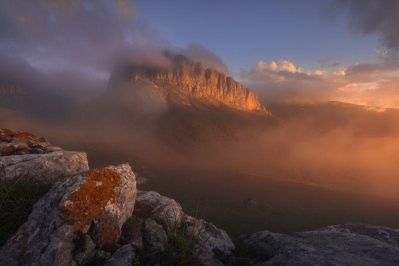горы, закат, пейзаж, кавказ Западный Ачешбокphoto preview