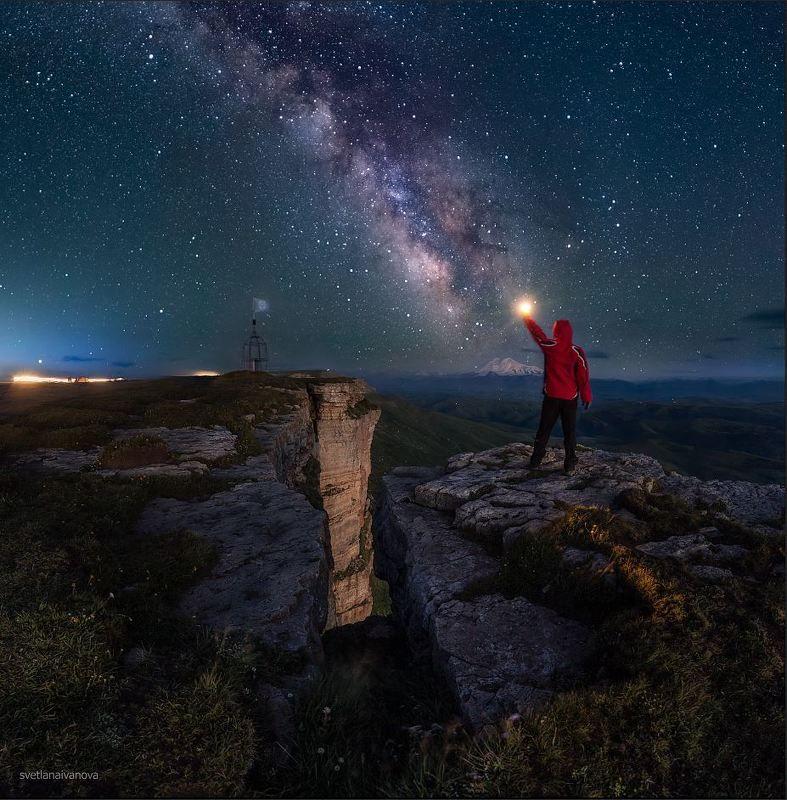 бермамыт, млечный путь, ночь, кавказ, звезды, эльбрус Зажигая звезды...photo preview