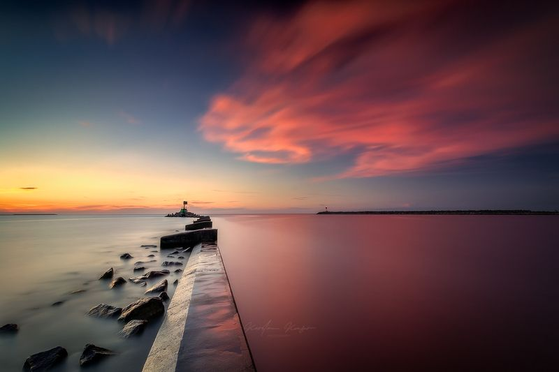 #sea #calm #sunset #longexposure #baltic #poland Gorki Zachodniephoto preview
